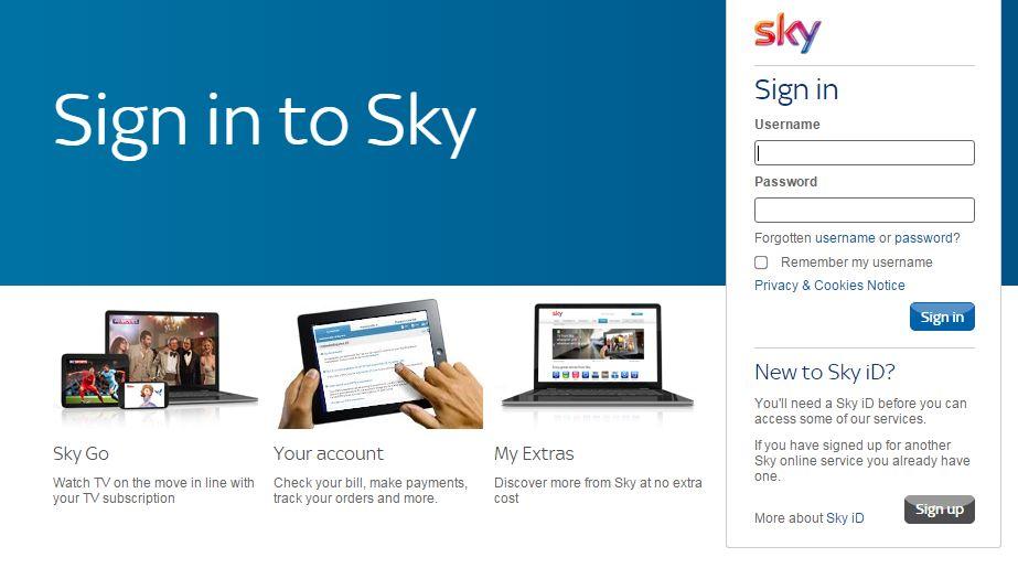 sky bill payment